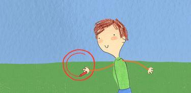 Pablo desenha sua realidade através do seu giz de cera