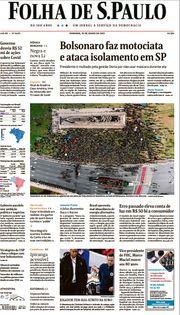 Capa do Jornal Folha de S. Paulo Edição 2021-06-13