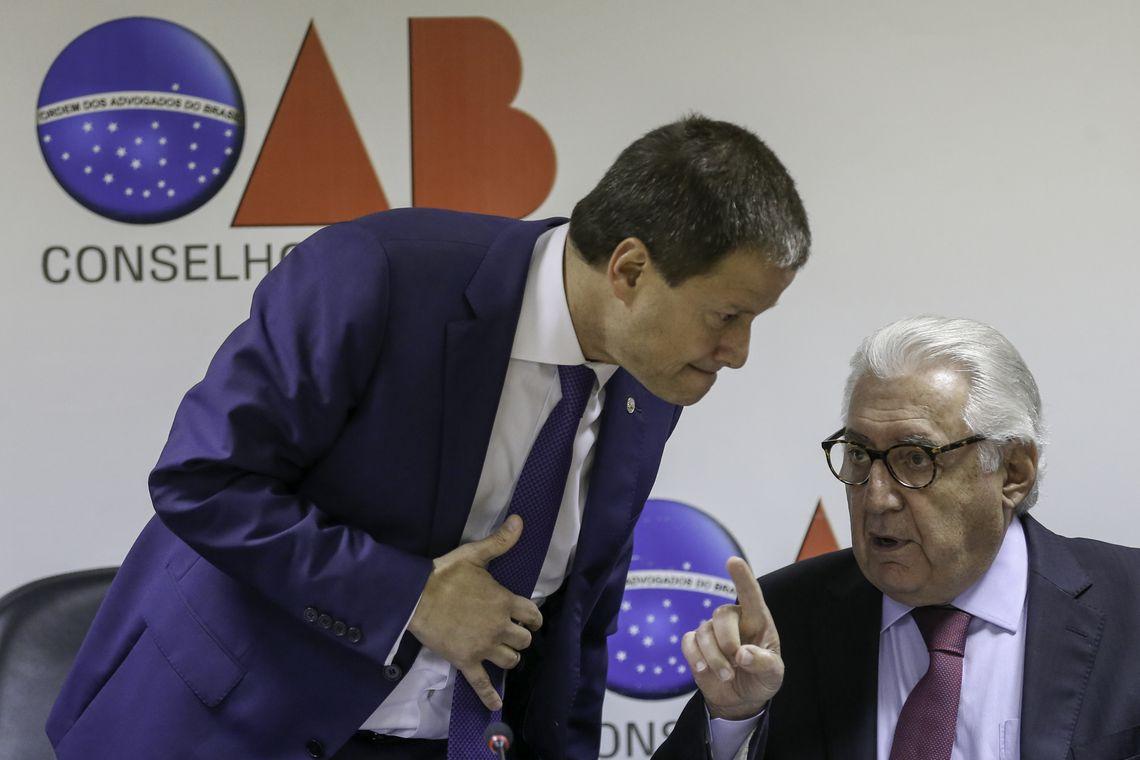 O presidente da OAB, Cláudio Lamachia, e o presidente do Sebrae, Guilherme Afif Domingos, falam sobre o mandado de segurança que o Sebrae entrou no STF contra a medida provisória que criou a Agência Brasileira de Museus (Abram).