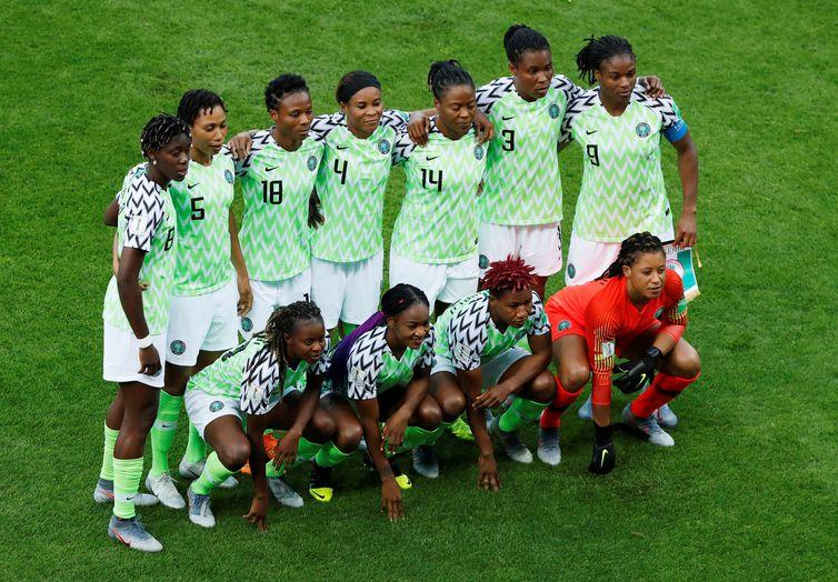 Seleção da Nigéria na Copa do Mundo de Futebol Feminino - França 2019.