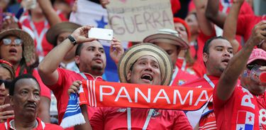 Soccer Football - World Cup - Group G - England vs Panama - Nizhny Novgorod Stadium, Nizhny Novgorod, Russia - June 24, 2018   Panama fans inside the stadium before the match    REUTERS/Lucy Nicholson