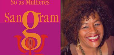 """Autora Lia Vieira e a capa de """"Só as mulheres sangram"""""""