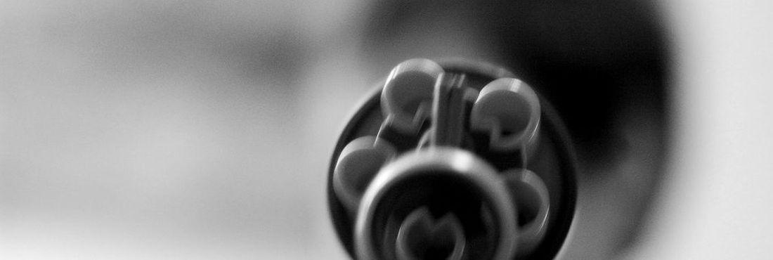 Detalhe de arma de fogo