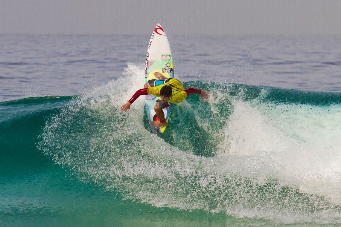 Rio de Janeiro - O surfista paulista Gabriel Medina durante o Billabong Rio Pro 2014, etapa brasileira do circuito mundial de surfe (WCT), na praia da Barra da Tijuca
