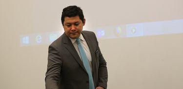 O ministro do Trabalho, Helton Yomura, durante lançamento de um pacote de ações de Políticas Públicas de Emprego.