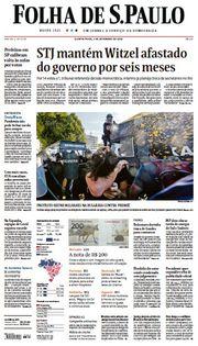 Capa do Jornal Folha de S. Paulo Edição 2020-09-03