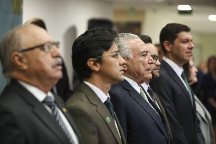 Presidente da República, Michel Temer durante Solenidade de posse do Dr. Gabriel Faria de Oliveira, no cargo de Defensor Público-Geral Federal, para o biênio 2018/2020.