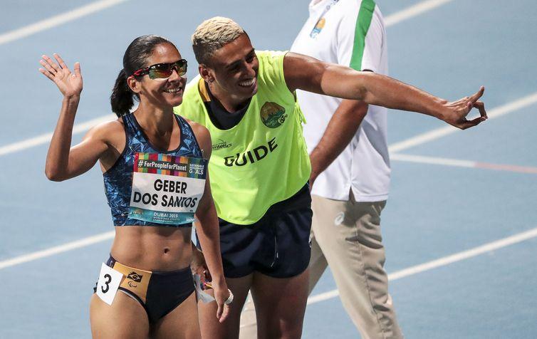 12.11.19 - Dubai, Emirados Arabes Unidos - Mundial de Atletismo - JERUSA GEBER, OURO NOS 100M T11 . Foto: Ale Cabral/CPB.