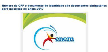 Enem 2017 abre inscrições - Divulgação Inep