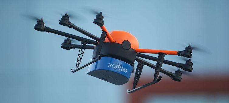 ROMEO, drone usado para a liberação de mosquitos estéreis na natureza