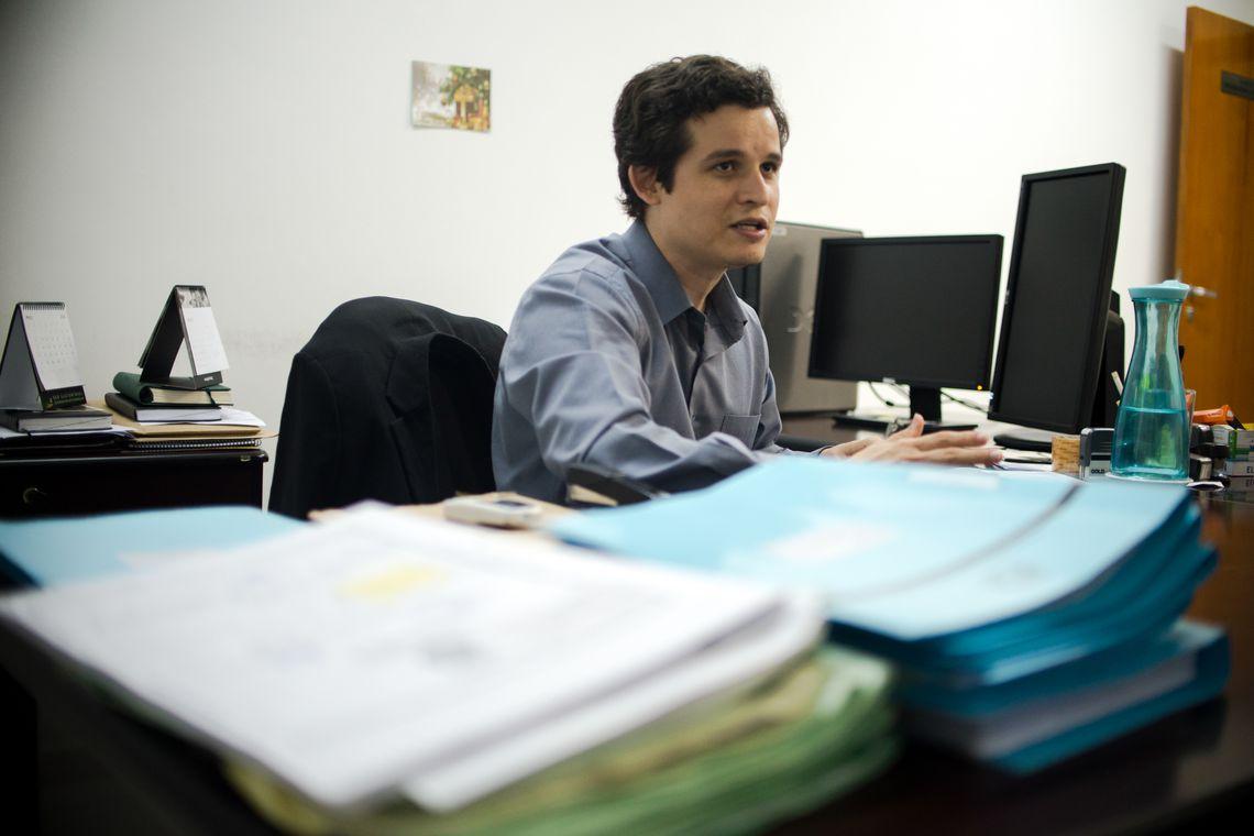 Daniel Luiz dos Santos, promotor que atua no município de Colniza (Marcelo Camargo/Agência Brasil)