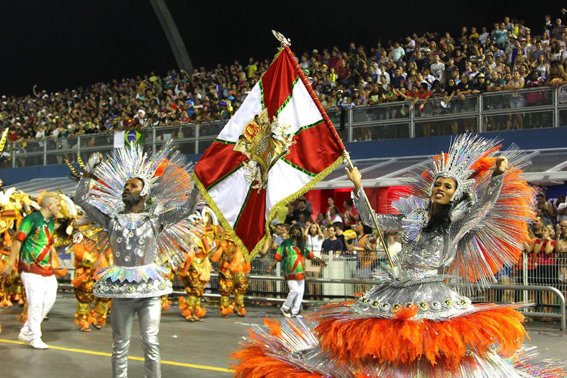 São Paulo – X9 Paulistana abre o segundo dia de desfile das escolas de samba do Grupo Especial (Divulgação/LigaSP)