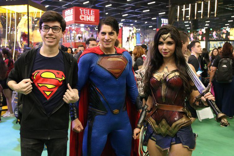 Comic Con Experience, feira de cultura pop, no São Paulo Expo.