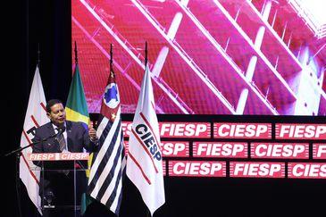 O vice-presidente da República, general Hamilton Mourão, participa da abertura do 13º ConstruBusiness - Congresso Brasileiro da Construção, na Fiesp.