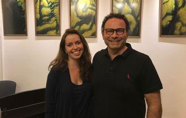 Maestro Alexandre Innecco com a apresentadora Isabela Azevedo