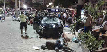 Oito vítimas do atropelamento em Copacabana continuam internadas