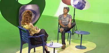 Tâmara Freire e o cineasta Alberto Alvares