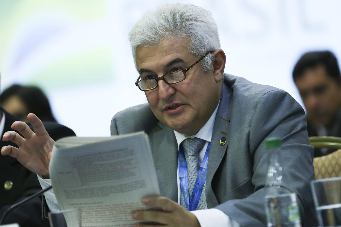 O ministro da Ciência, Tecnologia, Inovações e Comunicações, Marcos Pontes, participa da 5ª Reunião de Ministros de Comunicações dos BRICS, no  Hotel Windsor Plaza