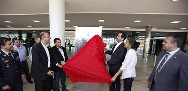 Agnelo inaugurando Centro Administrativo de Brasília