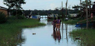 Alagamento no município Ferreira Gomes, no Amapá