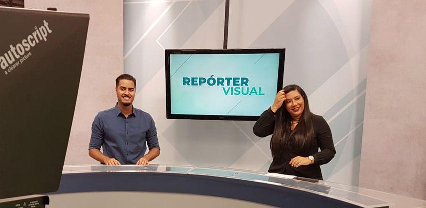 Jhonatas Narciso e Claudia Jacob apresentam o Repórter Visual