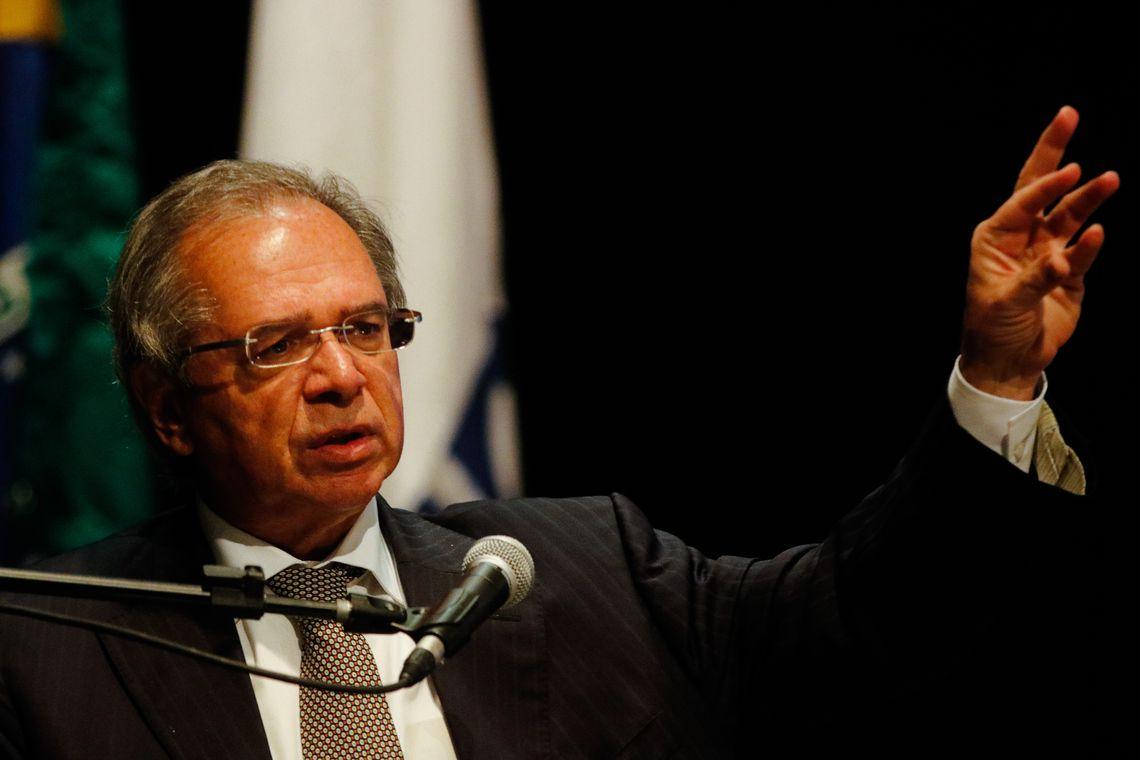 """O ministro da Economia Paulo Guedes, participa do evento """"BNDES com 'S' de Social e de Saneamento"""""""