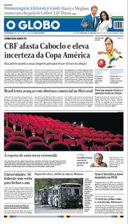 Capa do Jornal O Globo Edição 2021-06-07