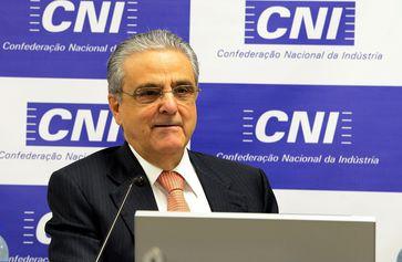 O Presidente da CNI, Robson Braga de Andrade, durante entrevista coletiva.