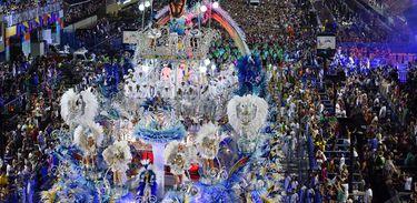 Desfile da Beija-flor, campeã do carnaval do Rio de Janeiro em 2018