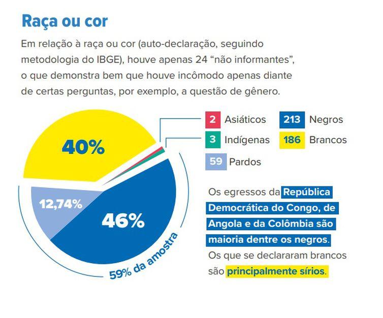 Raça ou cor. Perfil de refugiados no Brasil