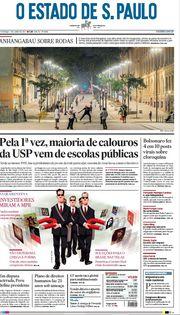 Capa do Jornal O Estado de S. Paulo Edição 2021-06-06