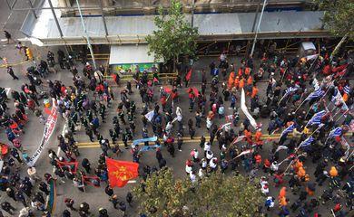 Montevidéu, Manifestação, Petrobras