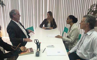 Marina Silva recebe a visita de Ciro Gomes em Brasília.