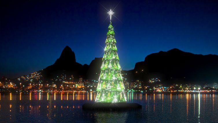 Árvore de Natal da Lagoa volta a ser montada no Rio depois de dois anos