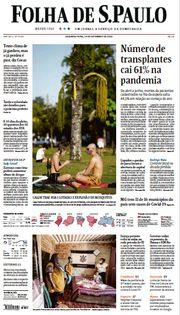 Capa do Jornal Folha de S. Paulo Edição 2020-09-14