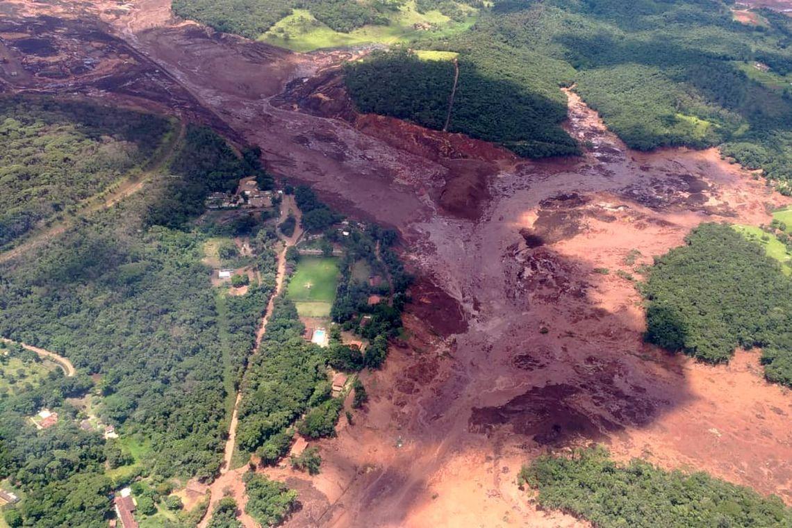 Brumadinho, MG, após o rompimento da barragem