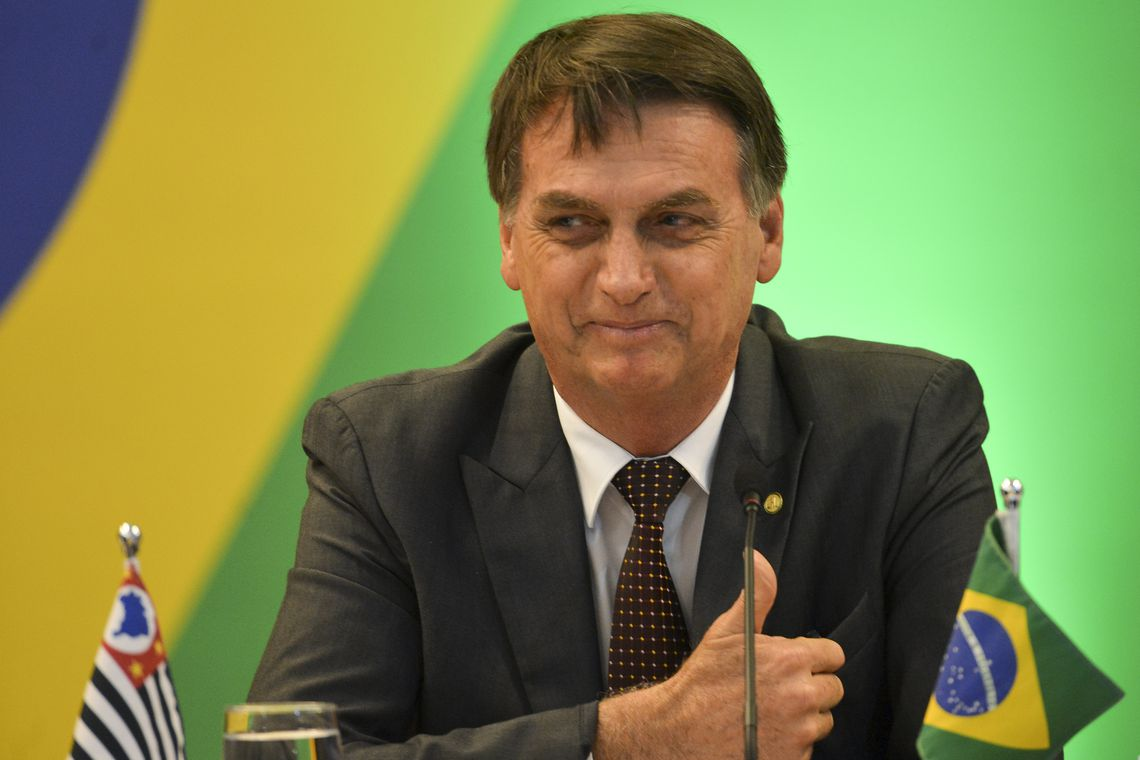 O presidente eleito Jair Bolsonaro participa de Fórum de Governadores eleitos e reeleitos, em Brasília.