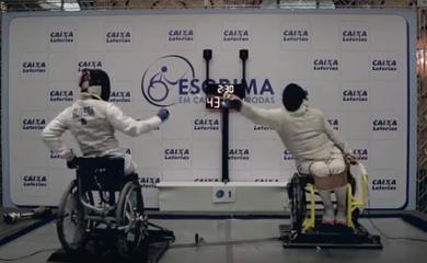 Esgrima em cadeira de rodas é uma das modalidades que serão disputadas na Paralimpíada (Divulgação/COB)