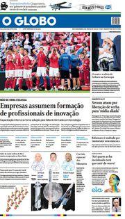 Capa do Jornal O Globo Edição 2021-06-13