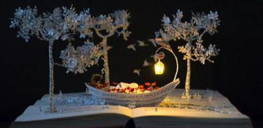 Malena Valcarcel cria pequenos mundos de papel com uma precisão cirúrgica