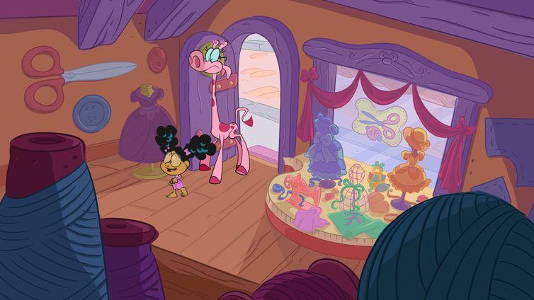 Lili e Nessa na Casa Mágica Pra Roupas Velhas