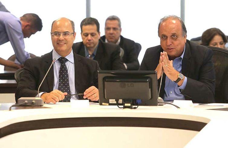 Reunião de transição Pezão e Witzel com equipes.