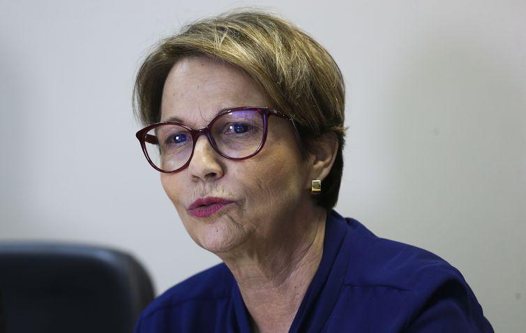 Governo apresenta estratégia integrada para o escoamento da Safra 2018/2019.Na foto, a ministra da Agricultura, Tereza Cristina.