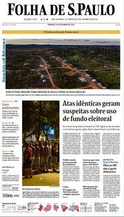 Capa do Jornal Folha de S. Paulo Edição 2020-09-06