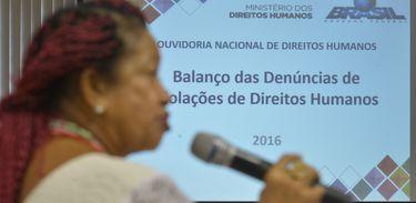 Brasília -  A ministra dos Direitos Humanos, Luislinda Valois, divulga o balanço do Disque 100 com dados de violações de direitos humanos de todo o país (Marcello Casal Jr./Agência Brasil)