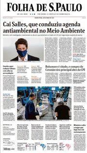 Capa do Jornal Folha de S. Paulo Edição 2021-06-24