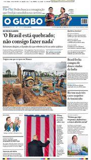 Capa do Jornal O Globo Edição 2021-01-06