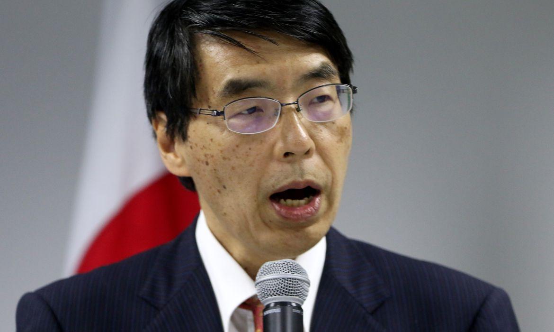 Embaixador do Japão no Brasil, Akira Yamada, durante assinatura de acordo de cooperação com quatro agências do Sistema ONU no Brasil para  ações de proteção e assistência aos refugiados e migrantes venezuelanos que chegam no país.