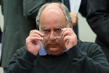 O ex-diretor da Petrobras, Renato Duque, presta depoimento em CPI na Câmara dos Deputados  ( Marcelo Camargo/Agência Brasil)