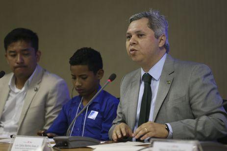 O Secretário Nacional dos Direitos da Criança e do Adolescente do Ministério dos Direitos Humanos, Luiz Carlos Martins Alves, durante a Abertura do Seminário Crianças e Adolescentes Migrantes.
